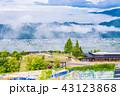 (長野県)長野自動車道 姨捨SA上り線のイラストと長野の町並み 43123868
