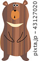 月の輪熊 熊 小熊のイラスト 43127020