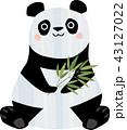 笹を手にしたジャイアントパンダ 43127022