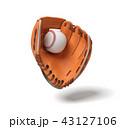 スポーツ ベースボール 白球のイラスト 43127106