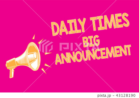 text sign showing daily times big announcementのイラスト素材