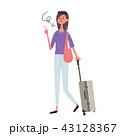 ベクター 女性 白バックのイラスト 43128367