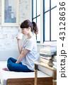 コーヒー 女性 若いの写真 43128636