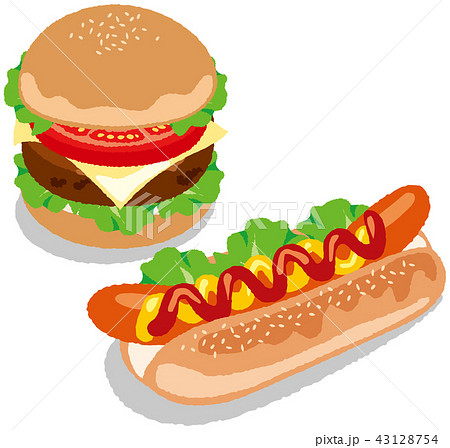 ホットドッグ ハンバーガー 43128754