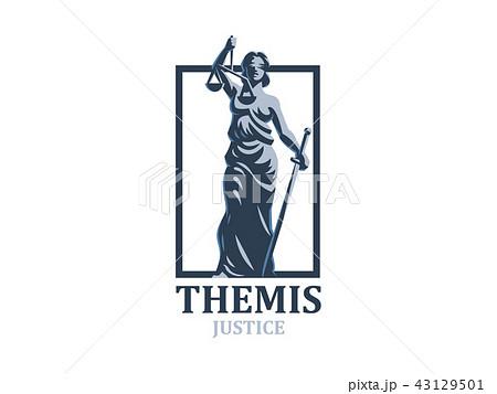 the goddess of justice themis のイラスト素材 43129501 pixta