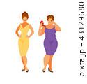 太い 脂 脂肪のイラスト 43129680