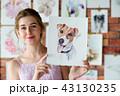 画家 絵描き わんこの写真 43130235