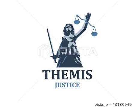 the goddess of justice themis のイラスト素材 43130949 pixta