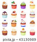 カップケーキ ケーキ お菓子のイラスト 43130989