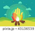 たき火 焚き火 焚火のイラスト 43136539