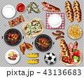 バーベキュー ピクニック 食のイラスト 43136683