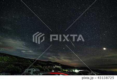 月山八合目駐車場からの星景 流れ星 43138725