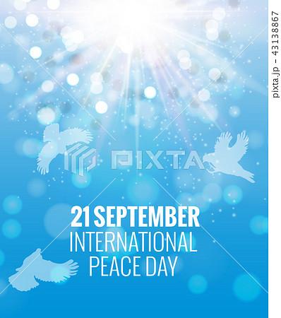 21 September International Peace Background. Vector Illustration 43138867