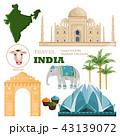 India travel landmarks card 43139072