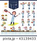 女性 料理 家事のイラスト 43139433