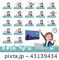 女性 ビジネス デスクワークのイラスト 43139434