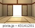 光 出入り口 和室のイラスト 43141201