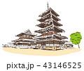 奈良県生駒郡/法隆寺 43146525