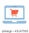 ショッピング 買い物 PCのイラスト 43147505