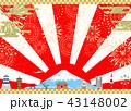 花火 日本 富士山のイラスト 43148002