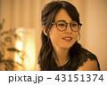 人物 女性 眼鏡の写真 43151374