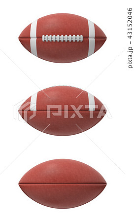3d rendering set of oval American football ball isolated on a white background. 43152046