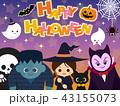 ハロウィン ハロウィーン キャラクターのイラスト 43155073
