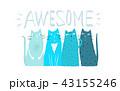 ねこ ネコ 猫のイラスト 43155246