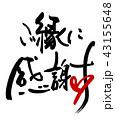筆文字 文字 ご縁に感謝のイラスト 43155648