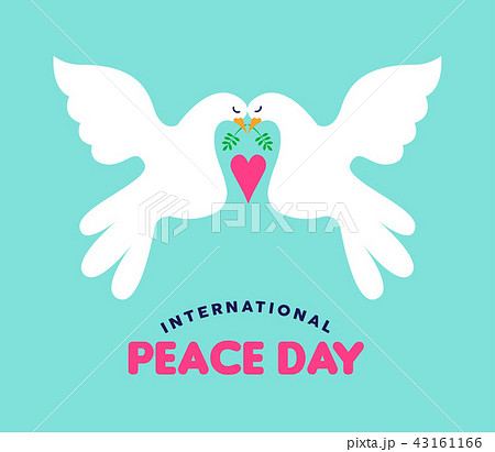 International Peace day white doves couple in love 43161166