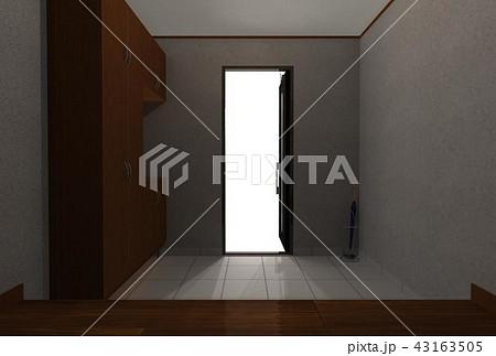 玄関に光差す 43163505