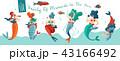 のぼり バナー 女のイラスト 43166492