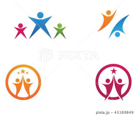 leadership success people health life logoのイラスト素材 43169849