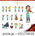 女性 楽器 クラシックのイラスト 43170638