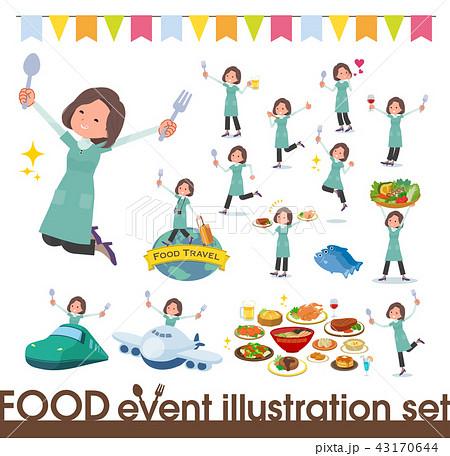 flat type tunic Middle women_food festival 43170644