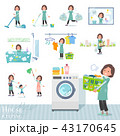 flat type tunic Middle women_housekeeping 43170645