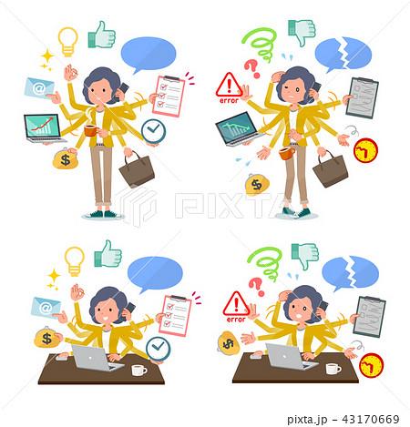 flat type Yellow jacket Middle women_mulch task 43170669