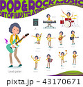 女性 楽器 音楽のイラスト 43170671