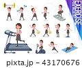 flat type Pink jacket Middle women_exercise 43170676