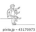 子 子供 おとうさんのイラスト 43170973