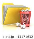 ゴミ箱 書類 資料のイラスト 43171632