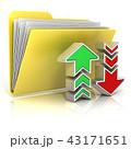 ダウンロード ファイル フォルダのイラスト 43171651