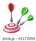 Darts hitting a target 3D 43173099