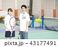 テニス 女性 テニスコートの写真 43177491