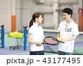 テニス 女性 スポーツの写真 43177495