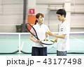 テニス 女性 テニスコートの写真 43177498