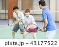 テニス 女性 男性の写真 43177522