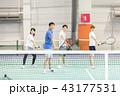 テニス 女性 テニスコートの写真 43177531