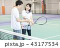 テニス 女性 テニスコートの写真 43177534