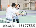 テニス 女性 テニスコートの写真 43177535